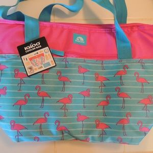 NEW with TAGS Igloo cooler bag flamingos
